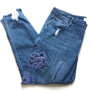 Lane Bryant Embroidered Mid-Rise Skinny Jeans 20